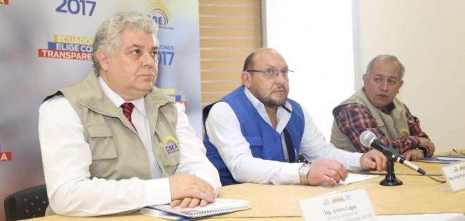 QUITO, Ecuador.- Juan Pablo Pozo hizo una explicación técnica y normativa sobre el sistema de escrutinio. Foto: CNE