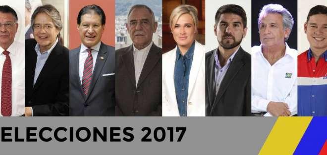 Los aspirantes recorrerán el Ecuador durante 45 días para exponer sus propuestas a los votantes del país.