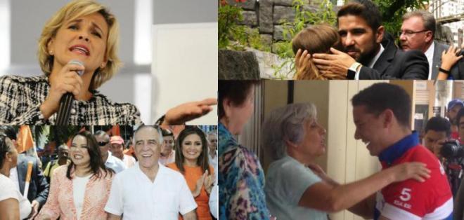 ECUADOR.- Viteri, Bucaram, Moncayo y Espinel continúan en su tercer día de campaña electoral. Collage: Ecuavisa, Fotos: API