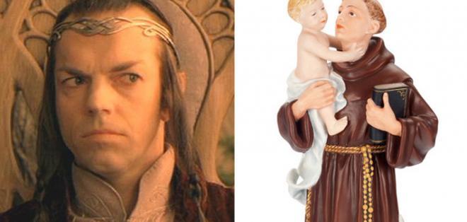 La anciana ya cuenta con una imagen del verdadero santo, pero por mucho tiempo elevó sus plegarias al personaje de J.R.R. Tolkien.