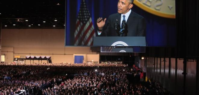 """Presidente de EE.UU. pidió a sus compatriotas que crean en capacidad de lograr el """"cambio"""". Foto: AFP"""