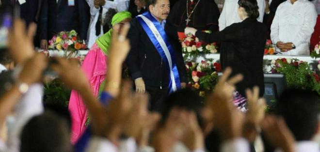 El mandatario tendrá como su vicepresidenta a su esposa, Rosario Murillo. Foto: @JuanOrlandoH