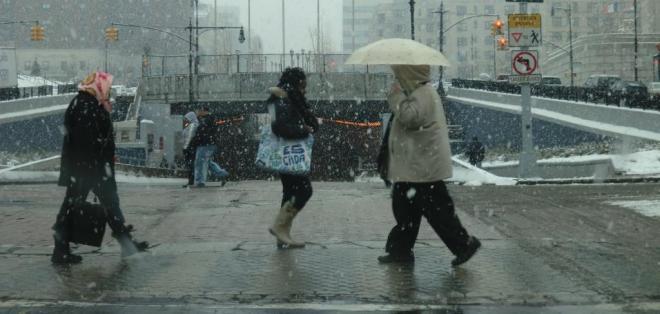 La reciente ola de tormentas de invierno ha traído varios centímetros de lluvia y nieve.