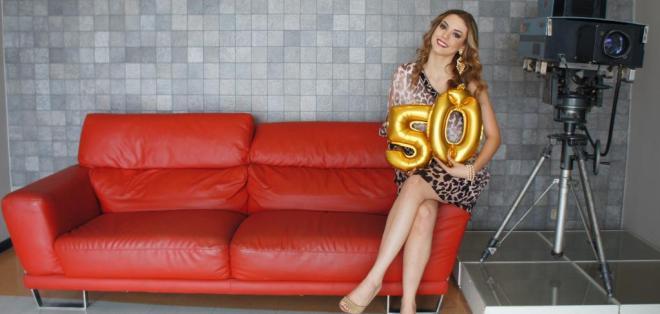 Carolina Aguirre celebra junto a Ecuavisa los 50 años de creación del canal. Foto: Franklin Navarro