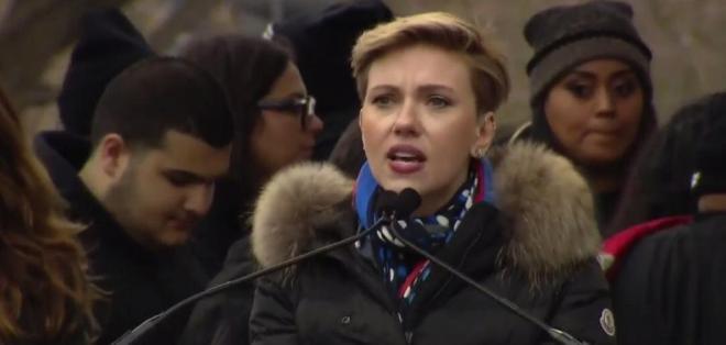 EE.UU.- En su discurso, Johansson manifestó la necesidad de respaldar los derechos reproductivos de las mujeres. Foto: Redes sociales
