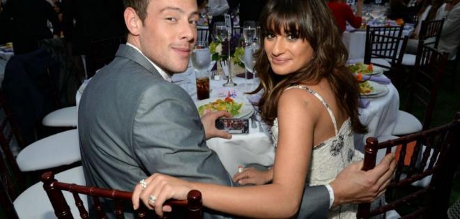 Lea y Cory, quienes se conocieron en el set de Glee en 2009. Foto:Tomada de T13.cl.
