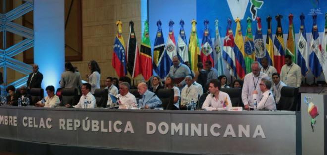 REPÚBLICA DOMINICANA.- En la cita de cancilleres, se aprobarán los documentos y declaraciones que firmarán los jefes de Estado y de Gobierno al término de su V Cumbre. Foto: Cancillería