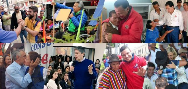 ECUADOR.- La página web EcuadorChequea verificó los planes de gobierno de los 8 presidenciables. Collage: Ecuavisa