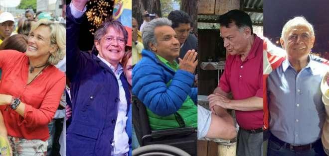 Los presidenciables iniciaron la última semana de la lid electoral en varias provincias. Foto: Collage.