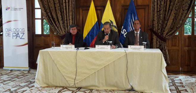 QUITO, Ecuador.- Las delegaciones anunciaron la instalación de 2 submesas que trabajarán de forma simultánea. Foto: Twitter