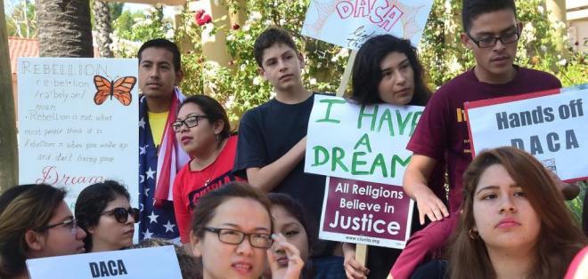 """Trump dijo que la mayoría de los jóvenes que gozan del alivio migratorio son """"fabulosos"""". Foto: Archivo / AFP"""