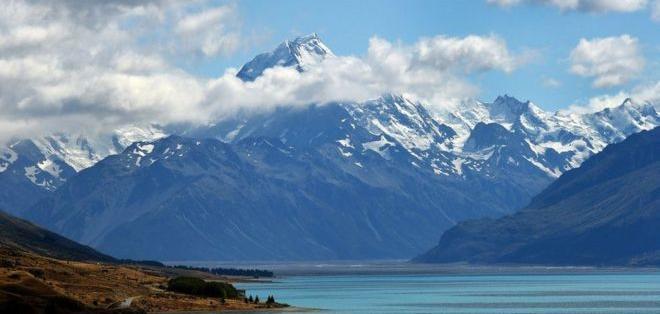 Monte Cook, el pico más alto de Nueva Zelanda... y de Zealandia.
