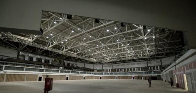 Así luce el interior del Arena Carioca 2 que recibió las disciplinas de Judo y Lucha. Foto: AFP