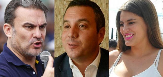ECUADOR.- José Serrano (PAIS), Guillermo Celi (CREO-SUMA) y Cristina Reyes (PSC) son los candidatos a estas dignidades con la votación más alta. Collage: Ecuavisa