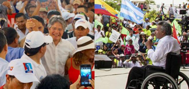 Lasso recorre la provincia de Manabí; Moreno se reunió con gobiernos parroquiales. Foto: Twitter