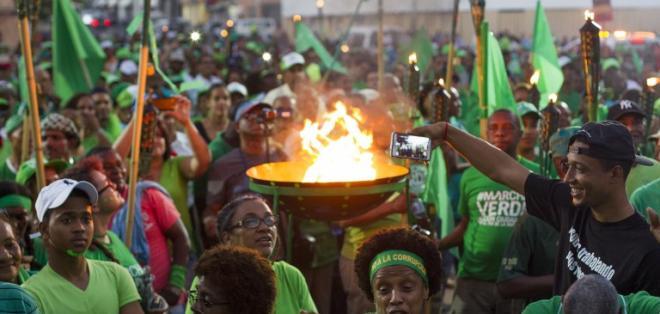 El movimiento Marcha Verde organizó el extenso recorrido de la antorcha por las principales ciudades del país. Foto: AFP