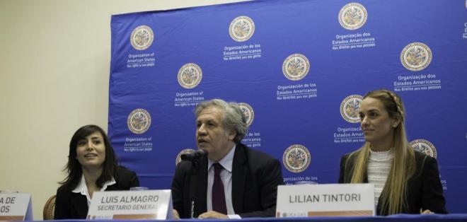 WASHINGTON, EE.UU.- El secretario Luis Almagro busca presionar a gobierno chavista a que celebre elecciones. Foto: Twitter Luis Almagro.