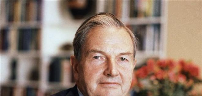 David Rockefeller fue nieto del cofundador de Standard Oil John D. Rockefeller. Foto: AP