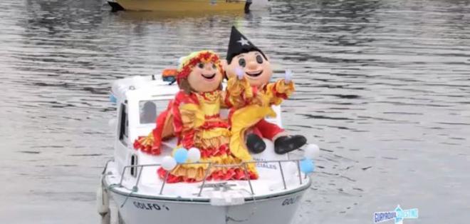 Por tercer año consecutivo se desplegó el desfile náutico denominado Guayaquil es mi Destino para Disfrutar el Carnaval en la Isla Trinitaria.