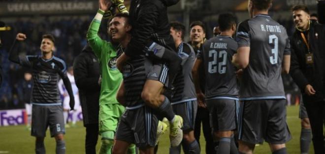 El Celta de Vigo llegó por primera vez a las semifinales de la Europa League. Foto: AFP
