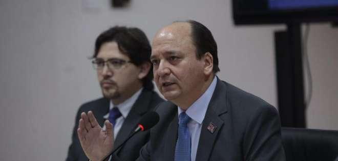 QUITO.- La nueva autoridad también se refirió a casos en proceso de investigación como Odebrecht y Petroecuador. Foto: API