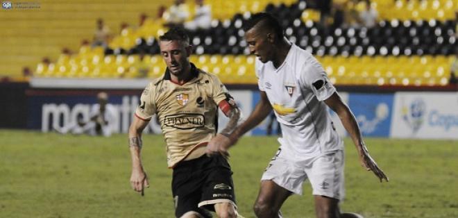 El partido entre Liga de Quito y Barcelona en Casa Blanca quedó diferido para el primer miércoles disponible.