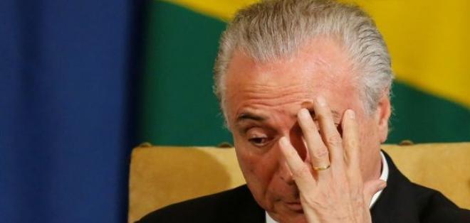 BRASILIA, Brasil.- Una grabación revela el presunto apoyo del mandatario brasileño a un legislador. Foto: Tomado de Twitter TelesurTV.