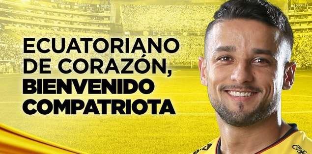 El brasileño Gabriel Marques llegó al país a mediados del año 2015. Foto: Tomada de la cuenta Twitter @BarcelonaSCweb