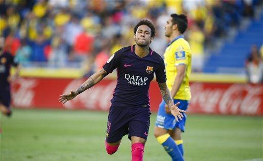 Neymar tendrá vacaciones luego de terminar su temporada con Barcelona. Foto: AP