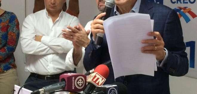 GUAYAQUIL, Ecuador.- El excandidato presidencial pide al mandatario electo, entre otras cosas, indultar a los perseguidos políticos. Foto: API