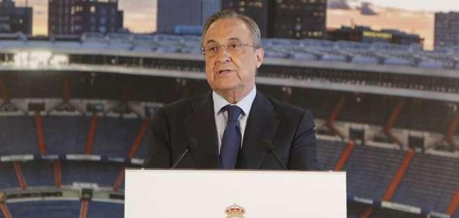 El directivo Florentino Pérez dio un discurso donde no admitió preguntas de la prensa.