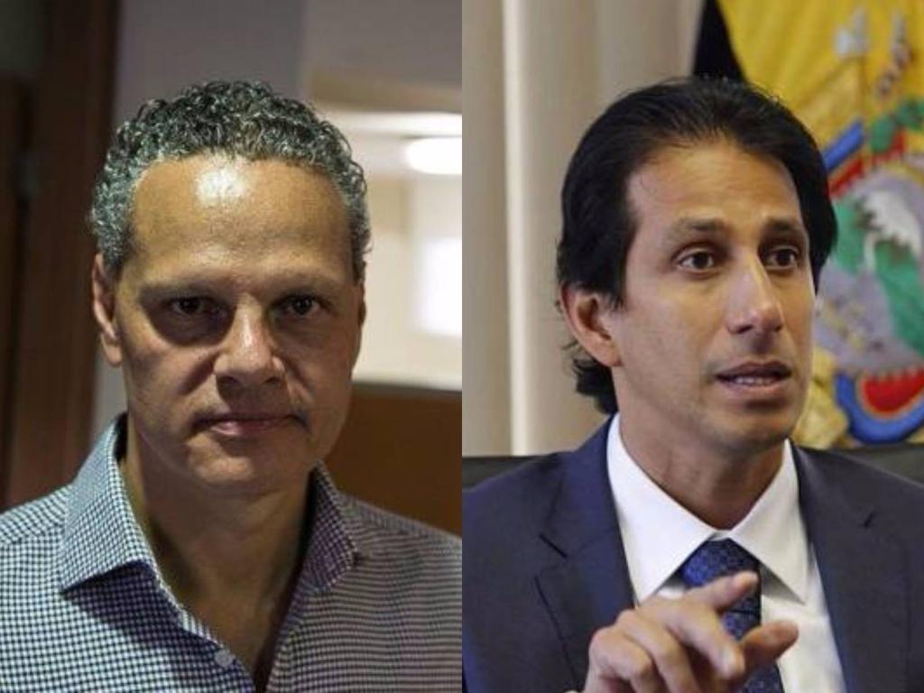 Esteban Paz y José Francisco Cevallos se enfrentaron por el comportamiento de Damián Díaz. Foto: Archivo