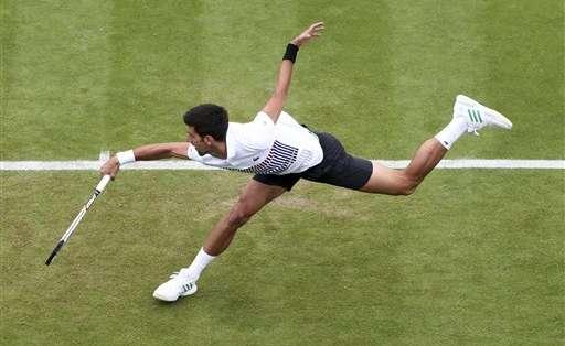 El tenista serbio volvió a tener dolores en su codo. Foto: Archivo