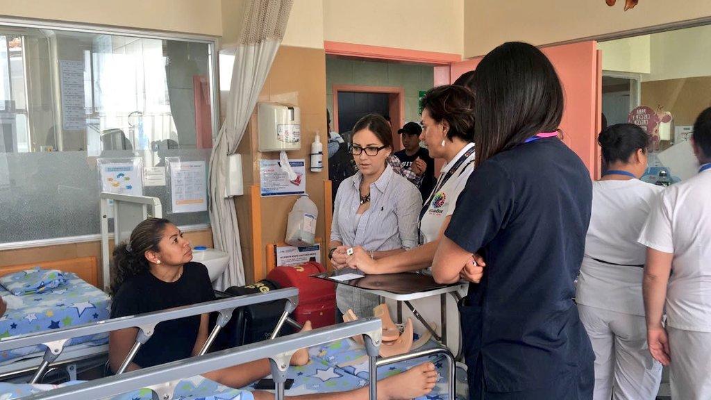 QUITO, Ecuador.- Según Verónica Espinosa, hay pacientes que ya fueron dados de alta y otros están estables. Foto: Ministerio de Salud