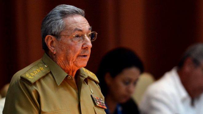 Raúl Castro criticó a Donald Trump durante una sesión única de la Asamblea Nacional el 14 de julio de 2017.