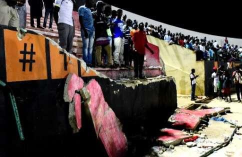 La tragedia se dio en el estadio Demba Diop de Dakar luego de la final de la Copa Senegalesa. Foto: AFP