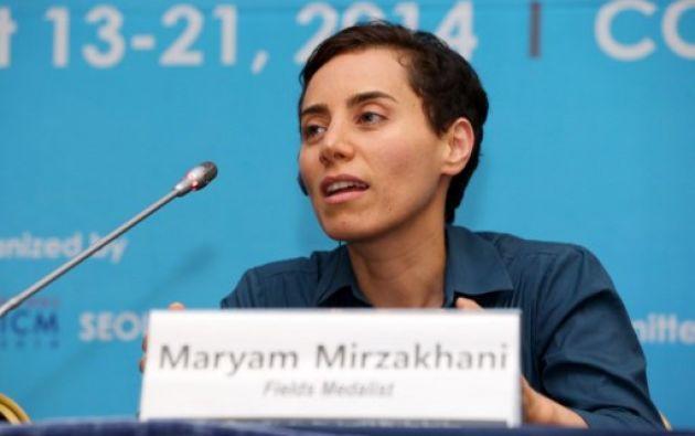 La iraní Maryam Mirzakhani padecía de cáncer de pecho. A los 37 años se convirtió en la primera mujer ganadora de la medalla Fields, considerada el premio Nobel de las Matemáticas. Foto: AFP.