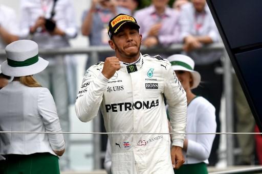 Lewis Hamilton ganó el Gran Premio de Gran Bretaña por cuarta vez consecutiva. Foto: AFP