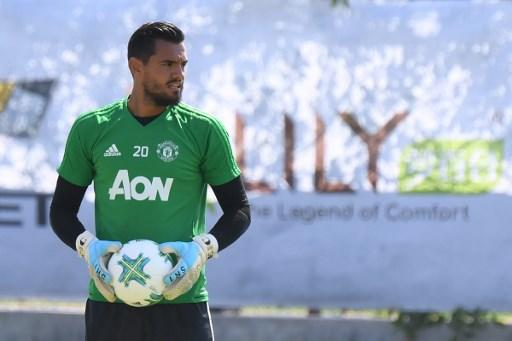 Sergio Romero, de 30 años, llegó al equipo inglés en julio del 2015. Foto: AFP