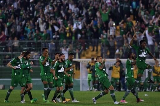 Chapecoense es el actual campeón de la Conmebol Sudamericana. Foto: AFP