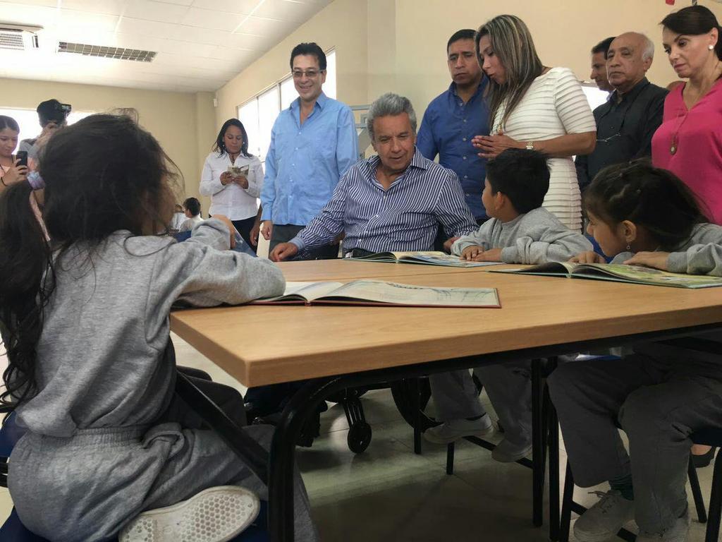 La unidad educativa Ileana Espinel tendrá capacidad para 2.000 niños y jóvenes de Guayaquil. Foto: TW Presidencia