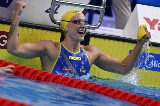 La sueca posee también el récord mundial en los 100 metros libre, 50 y 100 metros mariposa. Foto: AFP