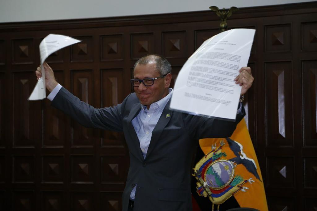"""QUITO, Ecuador.- El segundo mandatario dijo que """"con o sin funciones"""" sigue siendo el vicepresidente. Foto: API"""