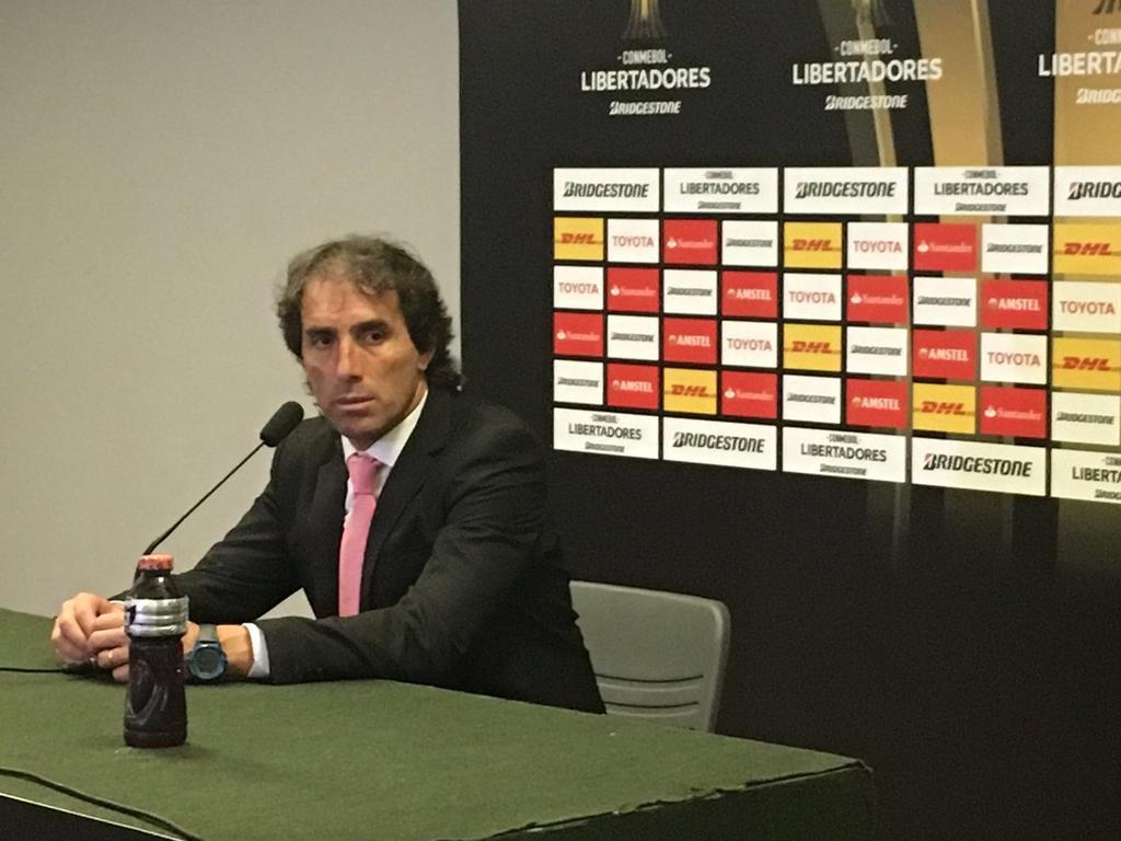 El técnico uruguayo manifestó que ahora hay que pensar en el torneo local y después analizar al próximo rival en la Libertadores.