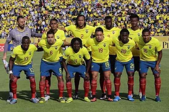 La selección de Ecuador aparece en el puesto 32 del ranking de selecciones de la FIFA.