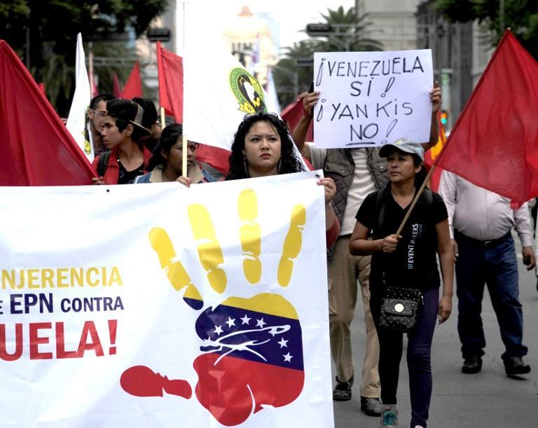Un millar de personas participó en una manifestación en Caracas, Venezuela. Foto: AFP