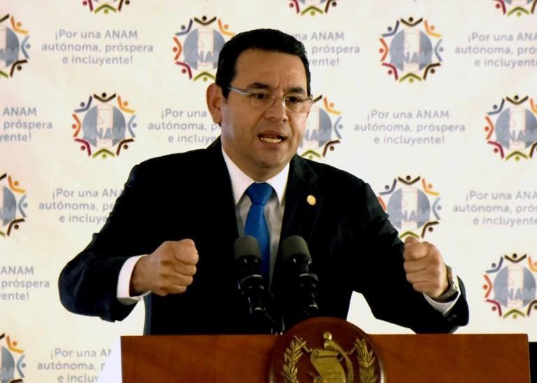 GUATEMALA.- Para levantar la inmunidad al presidente, son necesarios 105 votos de los 158 diputados. Foto: AFP