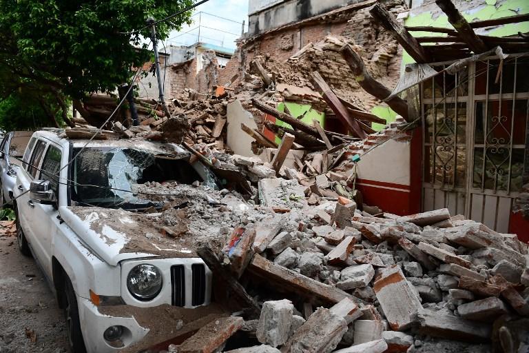 El poderoso temblor desató una alerta de tsunami para el sur de la costa del Pacífico. Fotos: AFP