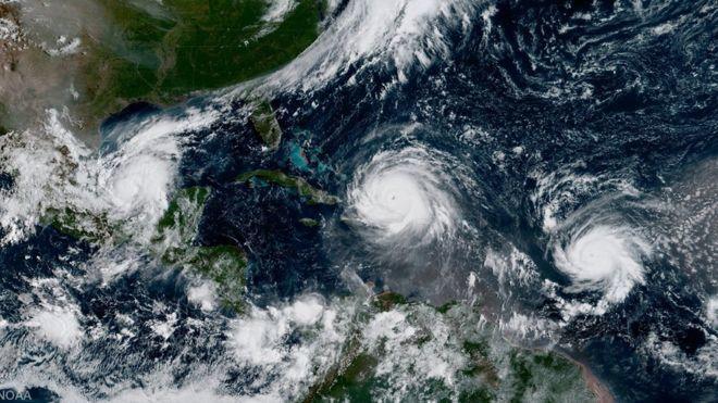 El mes de septiembre es la época del año en la que se producen más huracanes.