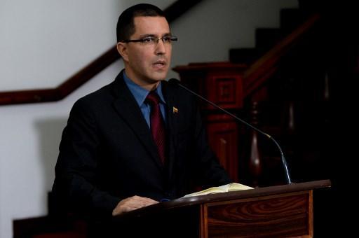 El canciller venezolano, Jorge Arreaza, rechazó las críticas del Alto Comisionado. Foto: AFP